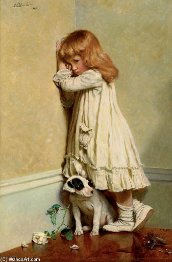 In Disgrace - by Charles Burton Barber (1845-1894, United Kingdom) | WahooArt.com