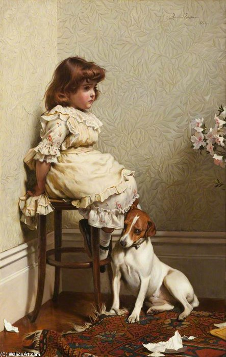 In Disgrace by Charles Burton Barber (1845-1894, United Kingdom)