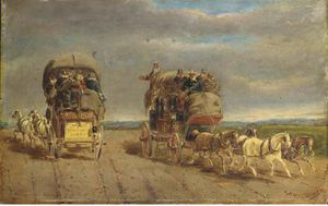 Charles Cooper Henderson - London To York Coaches Passing