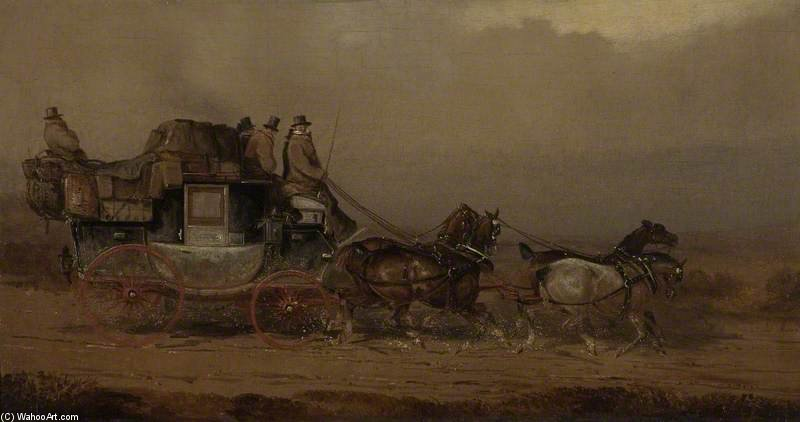 The Bristol To London Coach by Charles Cooper Henderson (1803-1877, United Kingdom)