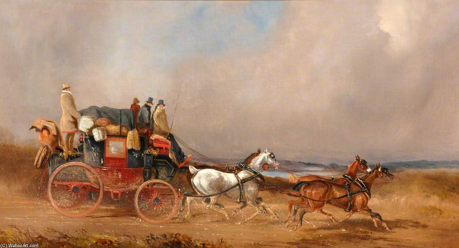 The Dover To London Royal Mail On The Open Road by Charles Cooper Henderson (1803-1877, United Kingdom)