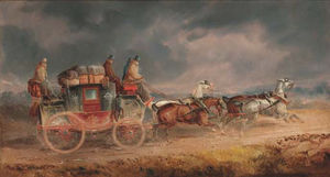 Charles Cooper Henderson - The Louth To London Royal Mail Coach