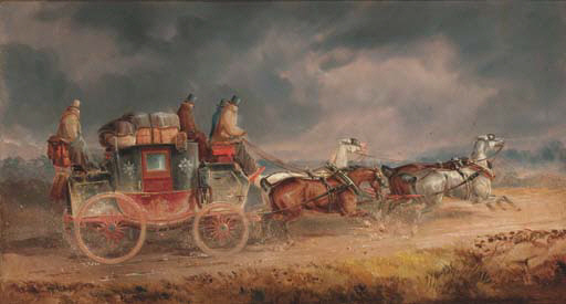 The Louth To London Royal Mail Coach by Charles Cooper Henderson (1803-1877, United Kingdom)