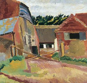 Duncan Grant - Farm Buildings At Charleston, East Sussex