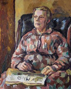 Duncan Grant - Portrait Of An Old Lady