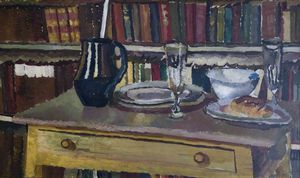 Duncan Grant - Still Life With Bookcase