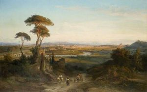 George Edwards Hering - A Distant View Of Rome