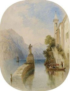 George Edwards Hering - A View In The Italian Lakes
