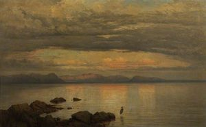 George Edwards Hering - Looking Eastward At Sunset