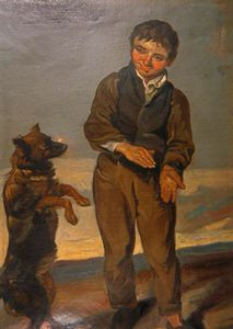 George Harvey - Boy Teaching A Dog A Trick