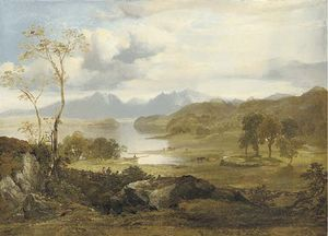 Horatio Mcculloch - View Of Loch Fad, Isle Of Bute, With Arran In The Distance