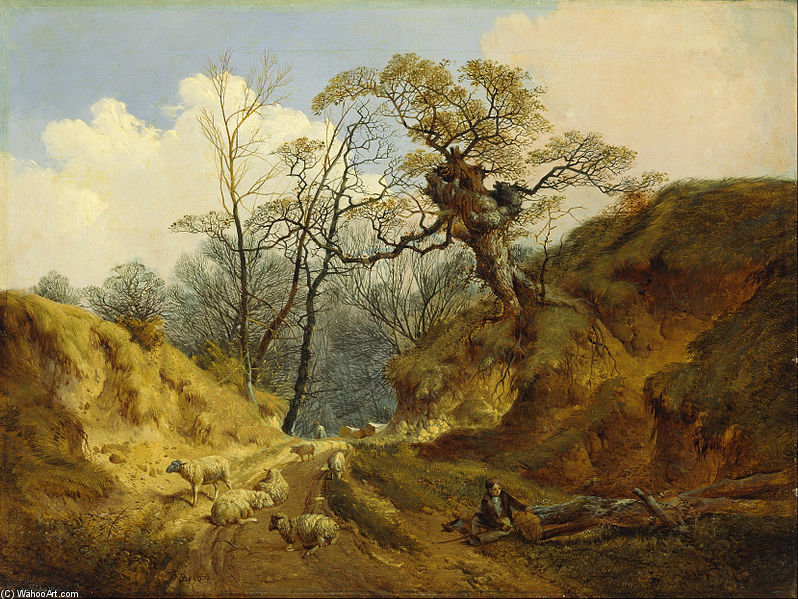Crown Point, Whitlingham, Near Norwich by John Berney Ladbrooke (1803-1879, United Kingdom) | Oil Painting | WahooArt.com