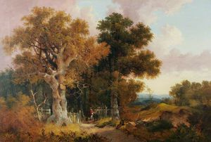 John Berney Ladbrooke - The Great Oak