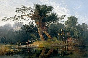 John Berney Ladbrooke - The Sluice Gate