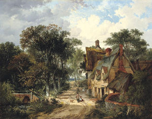 John Berney Ladbrooke - The Swan Inn