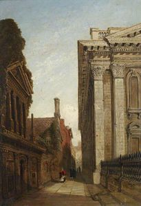 Joseph Murray Ince - The Senate Passage, Cambridge, With The Senate House And Caius College
