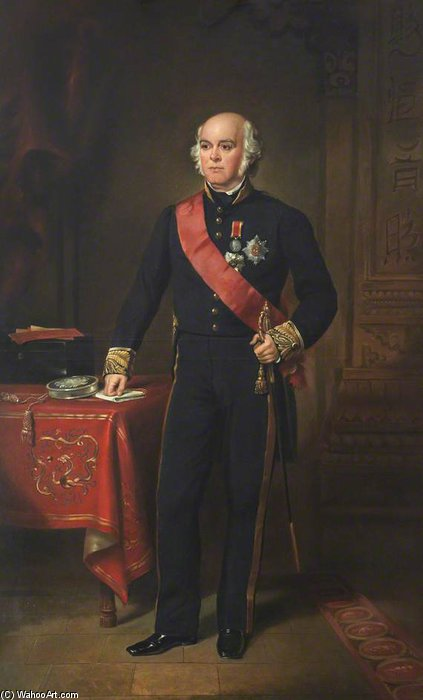 James Bruce, 8th Earl Of Elgin And 12th Earl Of Kincardine by Francis Grant (1803-1878, United Kingdom) | Oil Painting | WahooArt.com