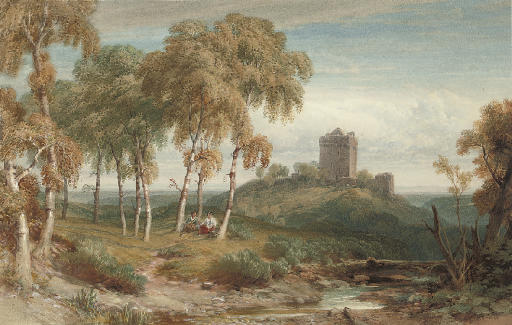 The Birks Of Invermay by William Leighton Leitch (1804-1883, United Kingdom) | Reproductions William Leighton Leitch | WahooArt.com