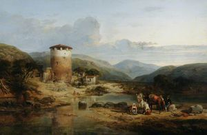 William Leighton Leitch - View Above The Capua, Southern Italy