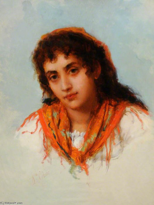 The Gipsy by William Oliver (1805-1853, United Kingdom)