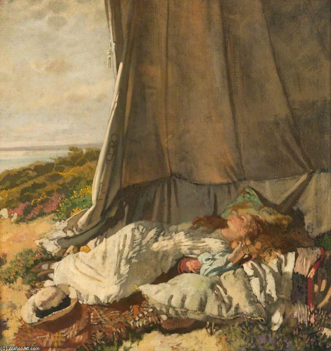 Afternoon Sleep by William Newenham Montague Orpen (1878-1931, Ireland) | Famous Paintings Reproductions | WahooArt.com