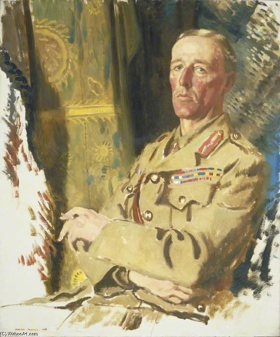 Brigadier General The Right Honourable John Edward Bernard Seely by William Newenham Montague Orpen (1878-1931, Ireland) | Art Reproduction | WahooArt.com