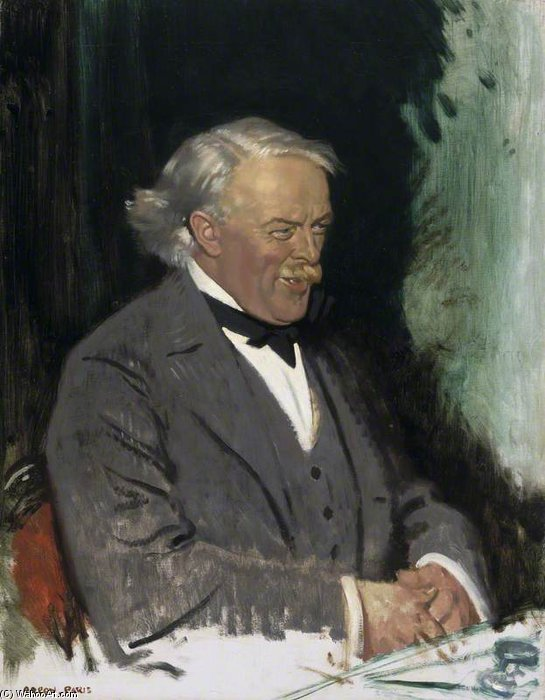 David Lloyd George - by William Newenham Montague Orpen (1878-1931, Ireland) | Painting Copy | WahooArt.com