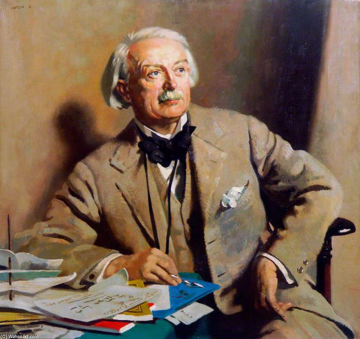 David Lloyd George by William Newenham Montague Orpen (1878-1931, Ireland) | Famous Paintings Reproductions | WahooArt.com