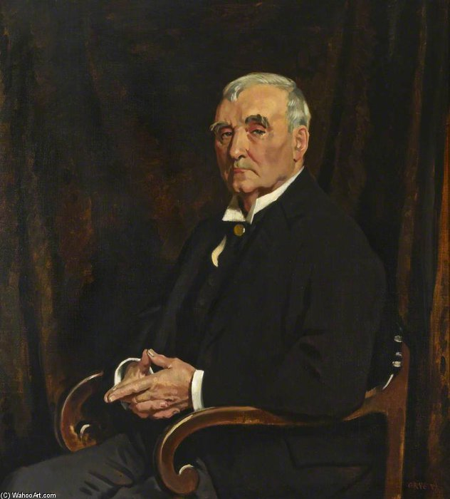 David Lloyd Roberts by William Newenham Montague Orpen (1878-1931, Ireland)