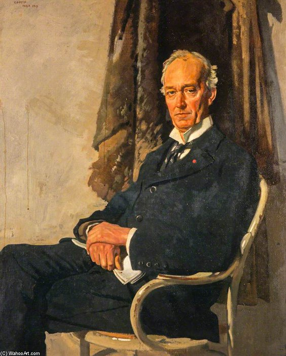 George Allardice, 1st Baron Riddell Of Walton Heath, Newspaper Proprietor And Diarist by William Newenham Montague Orpen (1878-1931, Ireland) | Museum Quality Reproductions | WahooArt.com