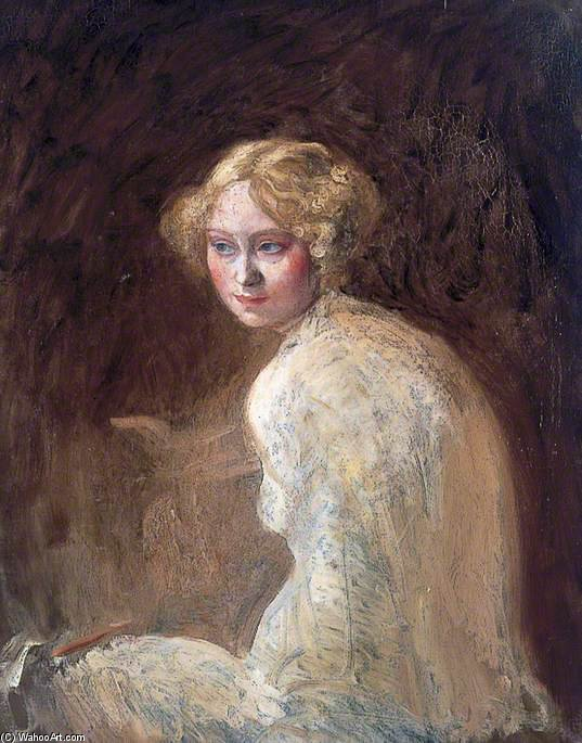 Head Of A Girl by William Newenham Montague Orpen (1878-1931, Ireland) | WahooArt.com