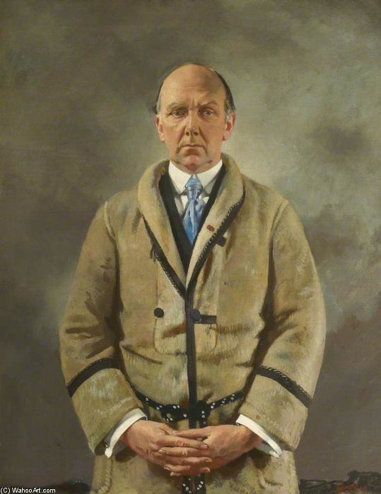 Leonard A. Scott Stokes by William Newenham Montague Orpen (1878-1931, Ireland)