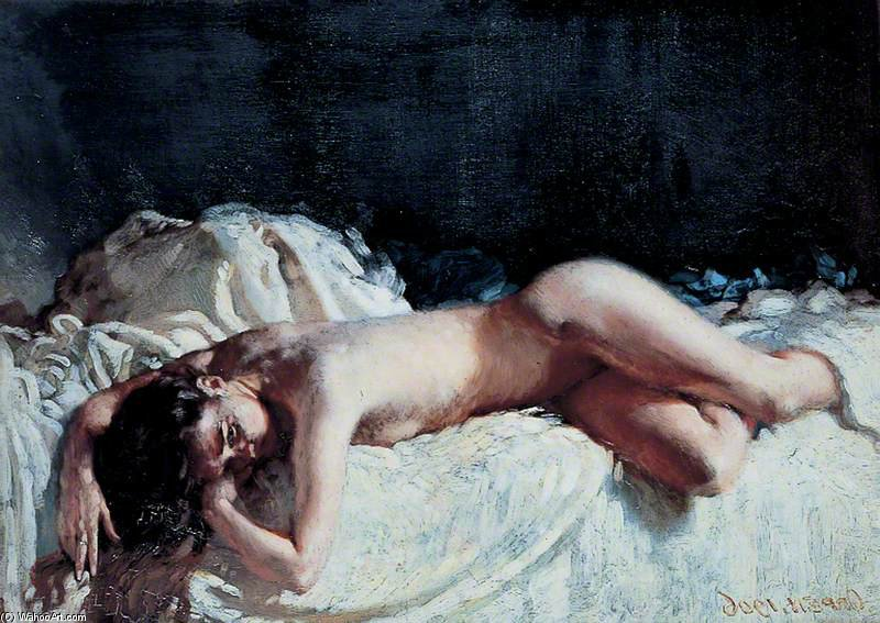 Nude Study by William Newenham Montague Orpen (1878-1931, Ireland)