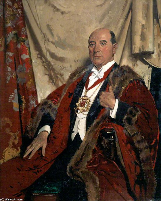 Sir Andrew Lewis, Lld, Lord Provost Of Aberdeen by William Newenham Montague Orpen (1878-1931, Ireland)