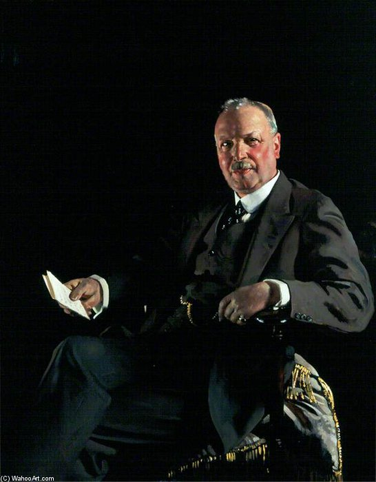 Sir Thomas Jaffrey, Bt, Lld, Chairman Of Aberdeen Art Gallery Committee by William Newenham Montague Orpen (1878-1931, Ireland) | Famous Paintings Reproductions | WahooArt.com