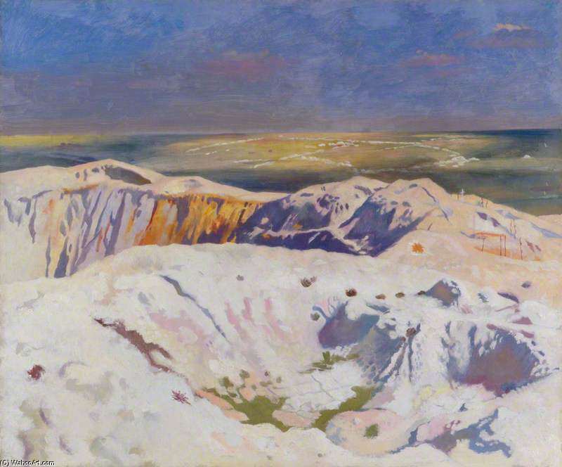 The Big Crater by William Newenham Montague Orpen (1878-1931, Ireland)