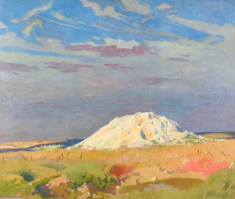 The Butte De Warlencourt by William Newenham Montague Orpen (1878-1931, Ireland)