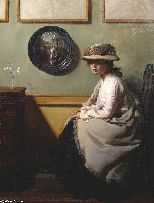 The Mirror by William Newenham Montague Orpen (1878-1931, Ireland)
