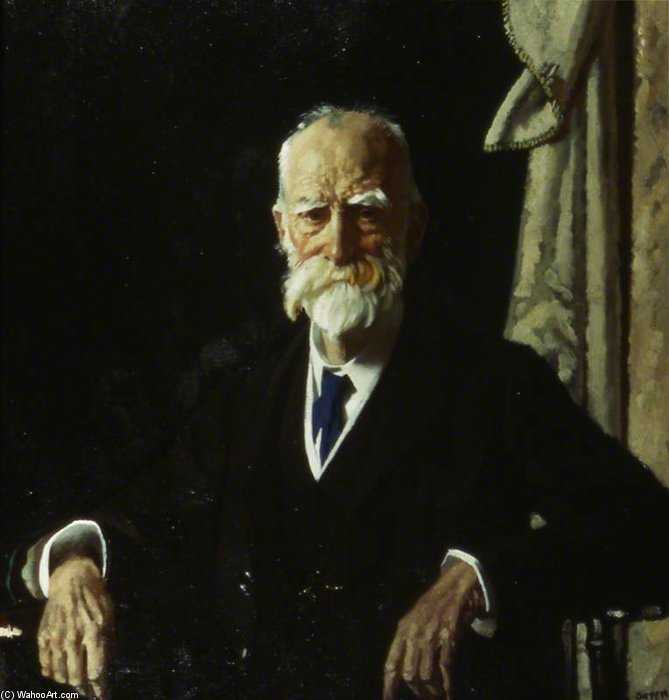 The Right Honourable Viscount Bryce, Gcvo, Pc by William Newenham Montague Orpen (1878-1931, Ireland)
