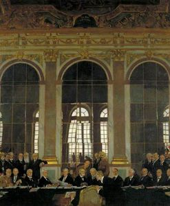 William Newenham Montague Orpen - The Signing Of Peace In The Hall Of Mirrors, Versailles