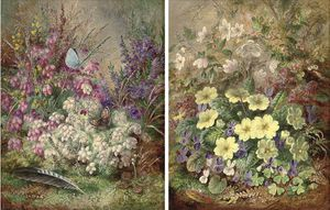 Albert Dürer Lucas - Primroses; And Heather