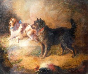 George Armfield (Smith) - A Spaniel And A Terrier