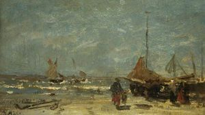 Jacob Henricus Maris - The Stranded Boat