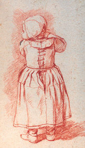 Jan Josef Horemans The Elder - A Study Of A Small Girl Seen From Behind