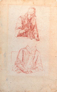 Jan Josef Horemans The Elder - Studies Of A Woman Weighing And Of A Woman Seated Holding A Roemer