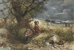 Johan Mari Henri Ten Kate - Seeking Shelter By The Campfire