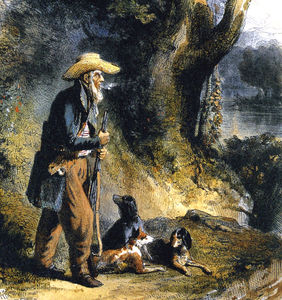 Karl Bodmer - The Great Traveller Charles Alexandre Lesueur In The Forest