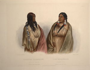 Karl Bodmer - Woman Of The Snake Tribe And Woman Of The Cree Tribe