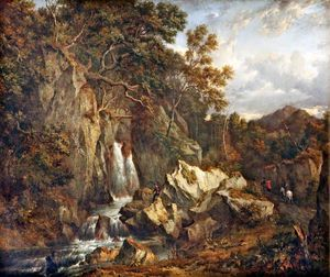 Patrick Nasmyth - A Waterfall In Glen Shira Near Inveraray