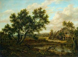 Patrick Nasmyth - Landscape With A Cottage And Figures
